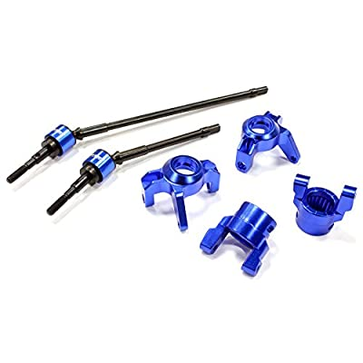 Integy RC Model Hop-ups C25342BLUE Billet Machined Steering, Caster Block & Front Shaft Set for Axial 1/10 Wraith