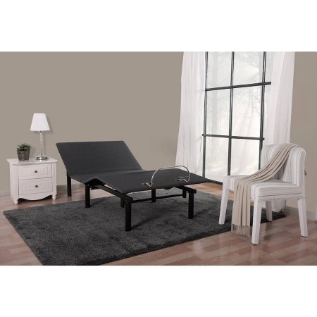 Mainstays 13'' Adjustable Steel Bed Frame with Wireless Remote, No Tool Assembly, Twin XL