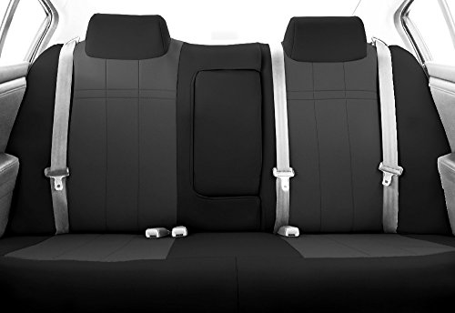 Caltrend Auto Accessories - CalTrend Charcoal Neoprene Rear 40/60 Split Bench Custom Fit Seat Cover for Select Toyota Tacoma TY530-03PP