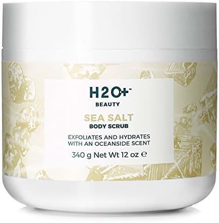 Body Scrub, Sea Salt Body Scrub by H2O+ Beauty, Exfoliates and Hydrates with an Oceanside Scent, 12 Ounce