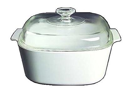 Amazon Com Corning Ware White Coupe Square Casserole W Lid 5