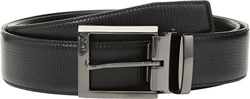 Tumi Leather Belt - Tumi Men's Monaco Leather Belt Gunmetal/Black 42