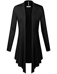 BIADANI Women's Open Front Long Sleeve Cardigan
