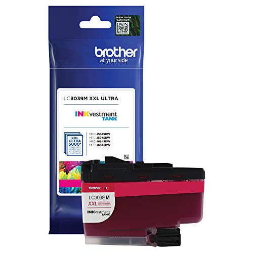 Brother Genuine LC3039M, Single Pack Ultra High-Yield Magenta INKvestment Tank Ink Cartridge, Page Yield Up to 5,000 Pages, LC3039