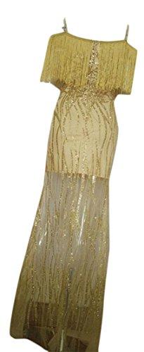 Split Cold Deep Neck Jaycargogo Bodycon golden Tassel V Womens Sexy Dresses Shoulder xwq8qZgaXT