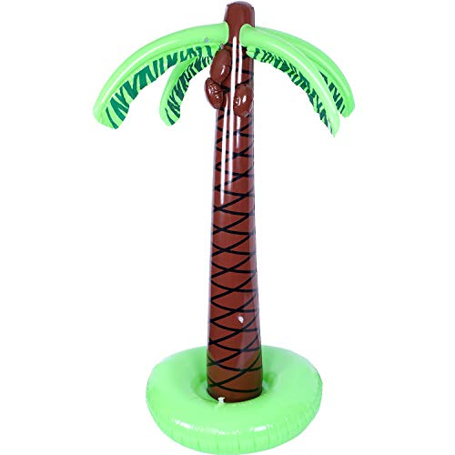 - TecUnite Inflatable Palm Trees Jumbo Coconut Trees Beach Backdrop Favor for Hawaiian Luau Party Decoration Accessory (67 Inches, 1 Pack)
