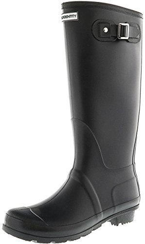 High Original Knee Black Matte Exotic Boot Identity Rubber Rain Tall Women's x4wXIa