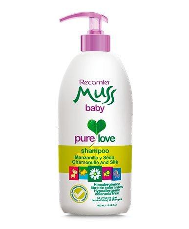 Amazon.com: Muss Baby Shampoo Manzanilla Seda / hipoalergenico, libre de lagrimas 400ml /13.3Fl. Oz: Beauty