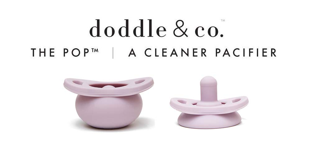 Built-in Pacifier Case BPA Free for Baby Infant Natural Nipple Stage 1 for Ages 0-6 Months Lilac 100/% Silicone Pop Pacifier by Doddle /& Co.- Single Pops When it Drops