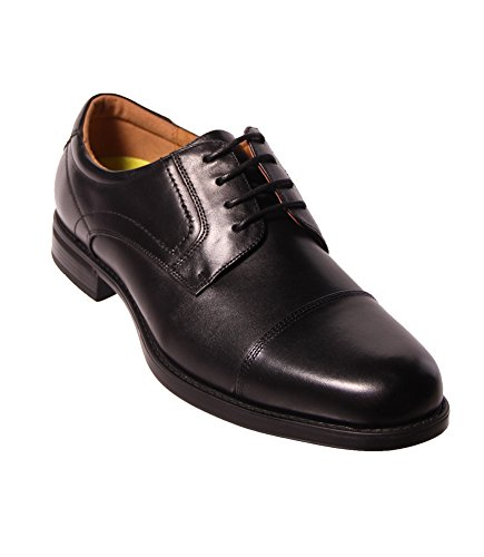 - Florsheim Men's Midtown Cap Toe Oxford,Black Smooth Leather,US 11 D