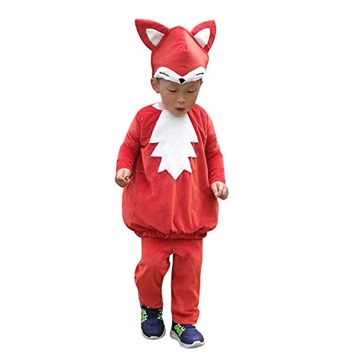 Kids Animals Costume Fox Halloween Cosplay Childen Party