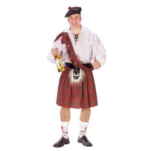 Red Kilt - FunWorld Scottish Kilt Standard Costume