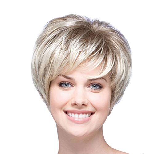 (Women's Short Curly Heat Resistant Synthetic Gray Wigs For Women Curly)