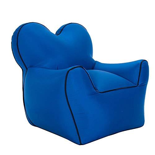 haode Waterproof Inflatable Sofa Loving Heart Shape Designed Air Chair,Navy Blue