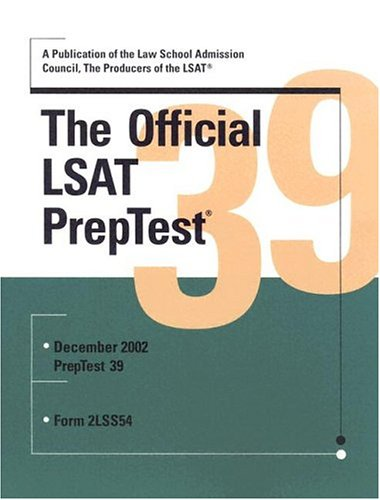 The Official LSAT PrepTest 39