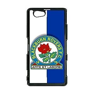 Blackburn Rovers FC Logo Phone Case Cover for Sony Xperia Z1 Compact Mini EPL Series Fashion Bright Customised Blackburn Logo Skin Cover Case