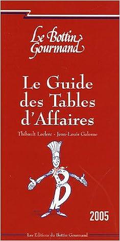 Lire Le guide des Tables d'Affaires epub pdf