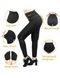 6 leggings de forro polar para dama, cintura alta, suave, elástico, para invierno cálido, longitud completa, talla grande