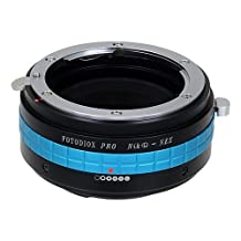 Fotodiox Pro Lens Mount Adapter with De-Clicked Aperture Dial, Nikon G, DX Lens to Sony E-Mount NEX Cameras
