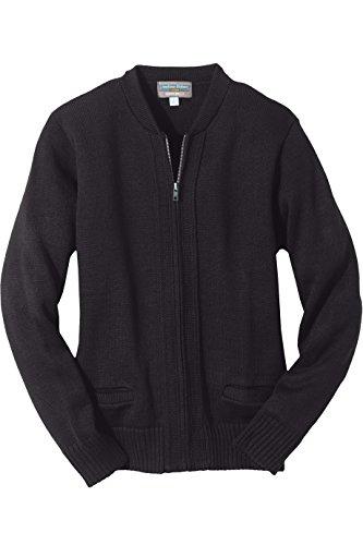 [해외]에드워드 의류 남자의 크루 넥 지퍼 헤비 웨이트 카디 건 스웨터 / Edwards Garment Men`s Crew Neck Zipper Heavyweight Cardigan Sweater