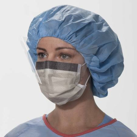 Halyard Health 62116 Protector Fog-Inhibiting Splash-Resistant Procedure Mask With Visor, 25 Per Box