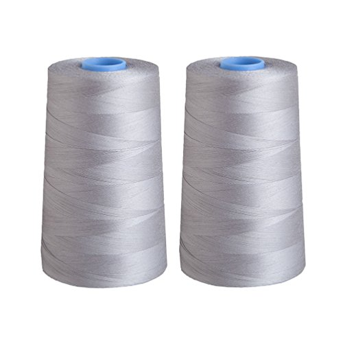 2 Ply Quilting Thread - Connecting Threads Essential Cone Thread Set of 2 (Grey)