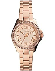 Fossil Womens AM4578 Cecile Small Rose Gold-Tone Stainless Steel Watch