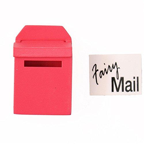dreamflyingtech Mail Box 1/12 Miniature Mailbox Wooden with Decal Dollhouse Garden Decor -