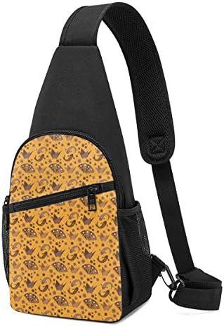 ボディ肩掛け 斜め掛け 幾何の図案 花と扇 ショルダーバッグ ワンショルダーバッグ メンズ 軽量 大容量 多機能レジャーバックパック
