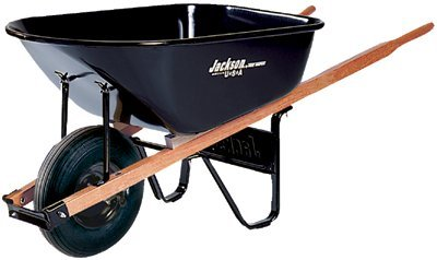 Jackson Contractors Wheelbarrows - 6cu.ft. steel tray contractor wheelbarrow