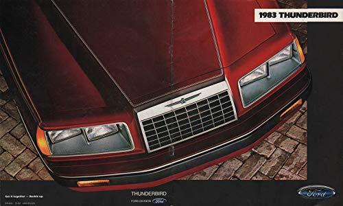 1983 FORD THUNDERBIRD, THUNDERBIRD HERITAGE & TURBO COUPE PRESTIGE VINTAGE COLOR SALES BROCHURE - USA - EXCELLENT ORIGINAL !!