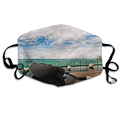 Zen Dust Mouth Mask Sea View Pattaya City Thailand for Men and Women W4