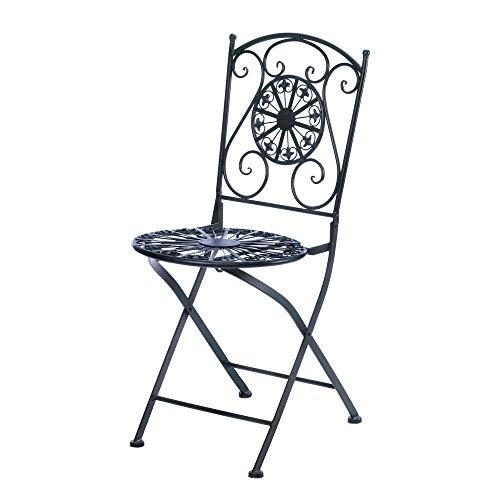 Cast Iron Fleur de Lis Patio Chair (Lis Sconce Vase)