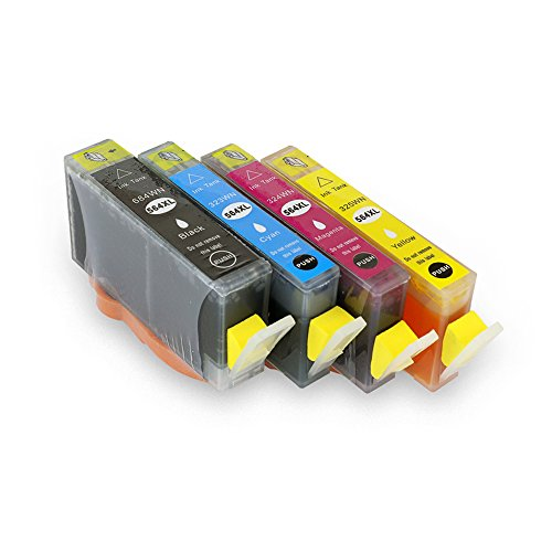 CISinks 4 Pack Compatible Ink Cartridges for HP 564 564XL (4 Color) Deskjet 3520 3526 3521 3522 OfficeJet 4620 4622 Photosmart 5522 5525 5514 5515 5510 5520 5511 6515 6512 6510 6520 B209a B210a HP564
