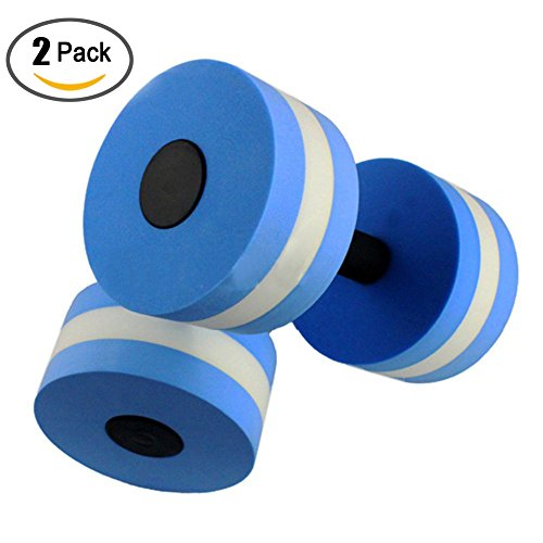 HOMEJU 2PCS Aquatic Exercise Dumbells Water Aerobic Exercise Hand Bars Pool Resistance Exercises Equipment by HOMEJU
