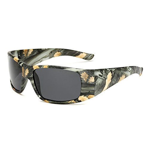 LongKeeper Camouflage Sunglasses Sport Polarized Goggles for Hunting Cycling Fishing - Sunglasses Or Goggles For Skiing