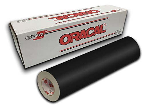 Oracal 631 Exhibition Cal Matte Finish - 24'' x 50yd - Black Matte 070 by ORACAL