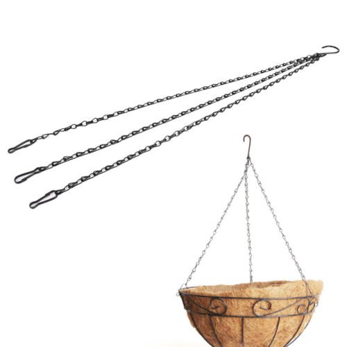 Gozebra(TM) 55cm Weight-bearing Iron Plant/Flower Basket Holder Hanging Chain Hook Pop ()
