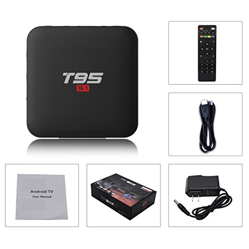 T95 S1 Android TV Box, Android 7.1 Amlogic S905W Quad Core 2GB/16GB with Digital Display HDMI HD 4K Ethernet WiFi 2.4GHz by Turewell (Image #6)
