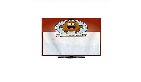 Funda de Tela para el Polvo de la TV, diseño de Dibujos Animados de Acción de Gracias en garabatos 30/32: Amazon.es: Electrónica