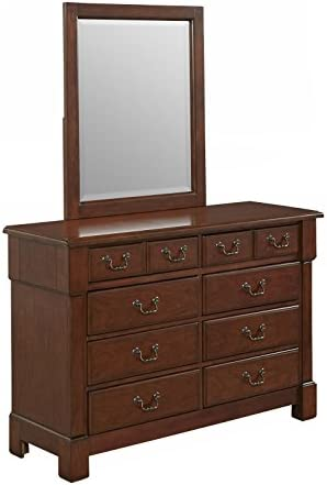 Aspen Rustic Cherry Dresser and Mirror by Home Styles