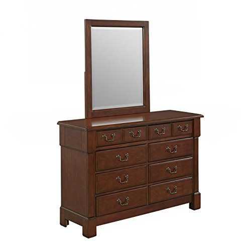 Americana Collection Vanity (Home Styles 5520-74 Aspen Rustic Cherry Finish Collection Dresser and Mirror)