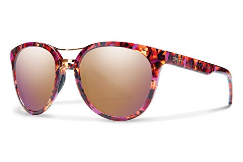Smith Optics Bridgetown Carbonic Sunglasses, Flecked Mulberry Tortoise, Rose Gold - Smith Women Sunglasses