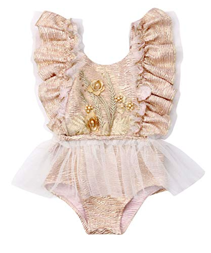 Newborn Infant Baby Girl Clothes Lace Halter Backless Jumpsuit Romper Bodysuit Sunsuit Outfits Set (A Very Gorgeous Onesies-Color 1, 12-18 Months)