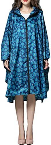 SiYang Stylish Unisex Hooded Waterproof Raincoat With Zipper Outdoor Windbreak Colorful Ripple Rain Jacket