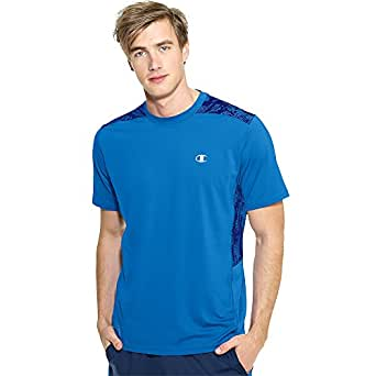 Champion Men's Powerflex T-Shirt Print, Zaffre/Ultra Marine Line Meter, XX-Large