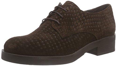 Virus 26050 - zapato oxford de cuero mujer marrón - Braun (Croco ACM castanho)