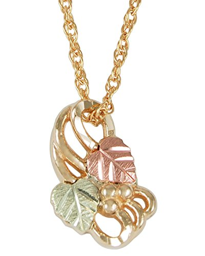 Infinity Drop Necklace, 10k Yellow Gold, 12k Green and Rose Gold Black Hills Gold Motif by Black Hills Gold Jewelry
