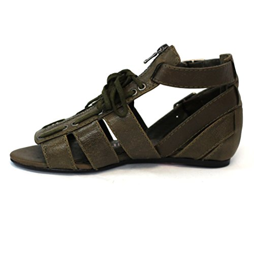 Juicy Couture Open-toe plano Gladiator Sandalias Talla 3,5 Verde - verde