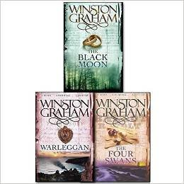 Winston Graham Poldark Series Trilogy Books 4, 5, 6, Collection 3 Books Set, (The Four Swans: A Novel of Cornwall 1795-1797, The Black Moon: A Novel of Cornwall 1794-1795 and Warleggan: A No